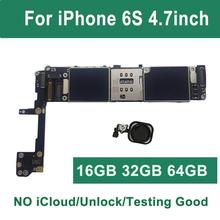 Original Free iCloud Unlocked For iPhone 6S motherboard Black Pink White Touch ID 16GB 64GB 32GB 128g logic board Mainboard
