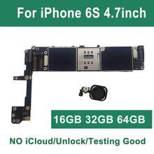 Original Freies iCloud Entsperrt Für iPhone 6S motherboard Schwarz Rosa Weiß Touch ID 16GB 64GB 32GB 128g logic board Mainboard