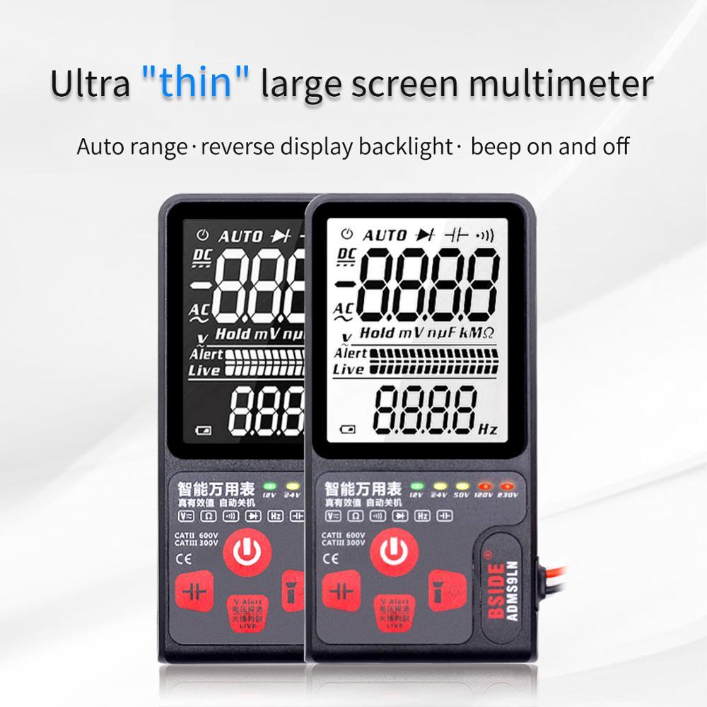 ADMS9LN / ADMS9CLN Intelligent Digital Multimeter Ultra-thin Large Screen Electrician Multi-function Repair Artifact