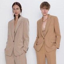 2020 ZA Fashion Suit Blazers Women Casual Loose Autumn Winte