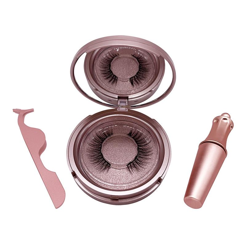SexyGo Magnetic Eyelashes with eyeliner natural 3D Mink False Eyelashes Liquid Eyeliner & Tweezer Set & Waterproof Eyeliner 4