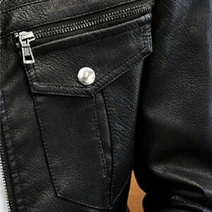 Image 5 - חדש גברים עור מעילי אופנועים בריטי עסקים מקרית אופנה צבאי טקטי באיכות גבוהה PU Mens מפציץ מעיל