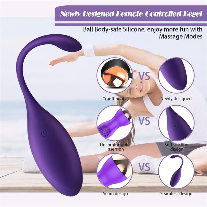 Remote Control Electric Kegel Balls – Exercises Pelvic Floor,Vaginal Balls Vibrator Sex Toys for Women,Vibrating Egg Masturbator img2