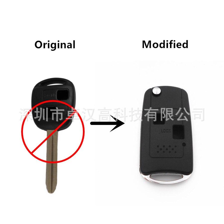 For Toyota Lexus LS Celsior Scion xB Instead of Original Factory Auto Car Key KETO New 2 Buttons Change Car Key Shell