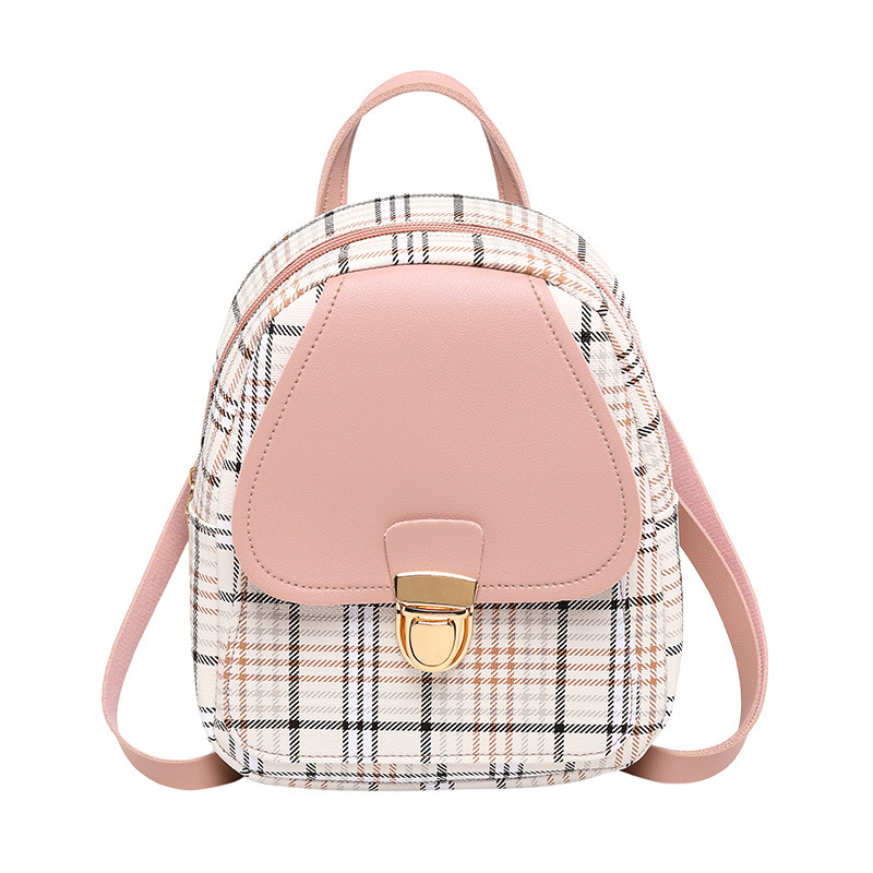 Fashion Retro Backpack 2020 New Personalized Lock Contrast Small Backpack Fashion One-Shoulder Bag