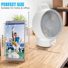 USB Desk Fan Mini Desktop Table Turbo 180 Kinds Of Wind Speed Experience, Can Adjust UP and