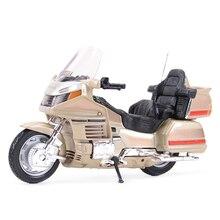 Welly 1:18 Honda золотыми крыльями Литой Транспортных средств Коллекционная хобби модель мотоцикла, игрушки