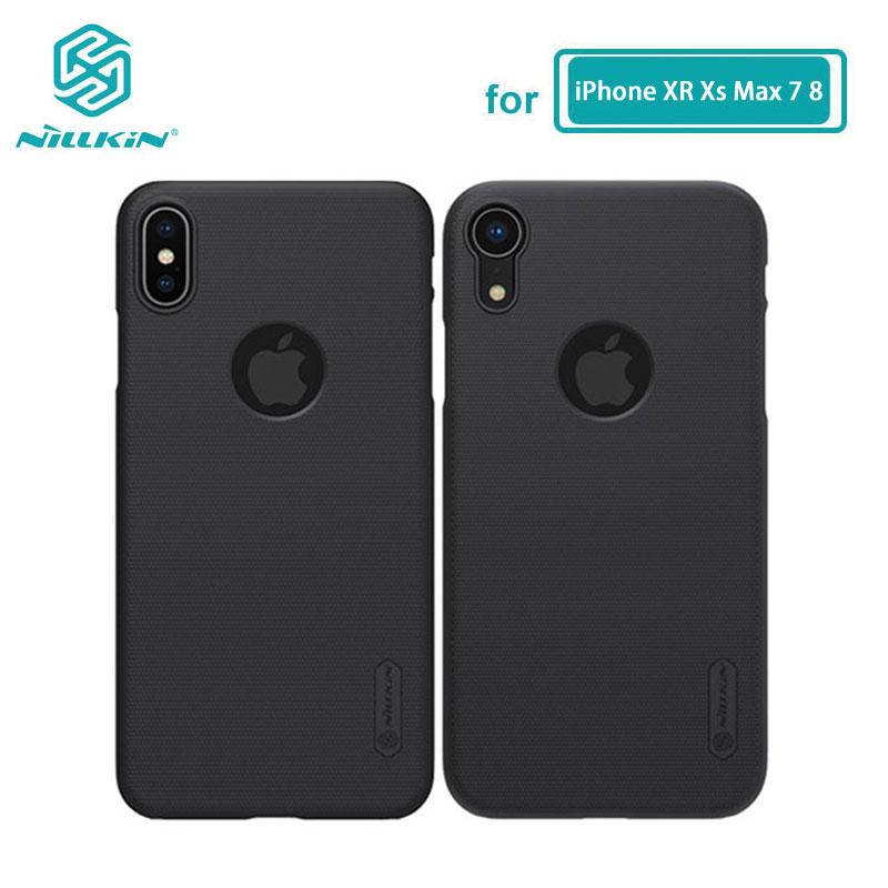 Para o iphone xs max caso xr capa nillkin fosco escudo pc duro de volta caso para o iphone x xs 8 7 plus 5S 5 se 6 s mais