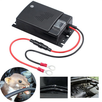 Odstraszacz szkodników kuna 12V zapobieganie wstrząsom kuny dla samochodów osobowych komora silnika myszy obrona ultradźwięki bezpieczne i wydajne tanie i dobre opinie MICE Ultrasonic Pest Repellers 2 mA 0 025 W 200 mA 250 V max 105 dB ± 15 12-45KHz 160 ° effective flashing LED approx 9 5*6 5*2 7 cm