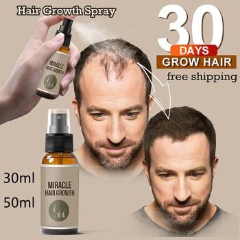 Новинка 30/50 мл спрей для роста волос эссенция имбиря спрей эффективный экстракт против выпадения волос питает корни предотвращают выпадение волос