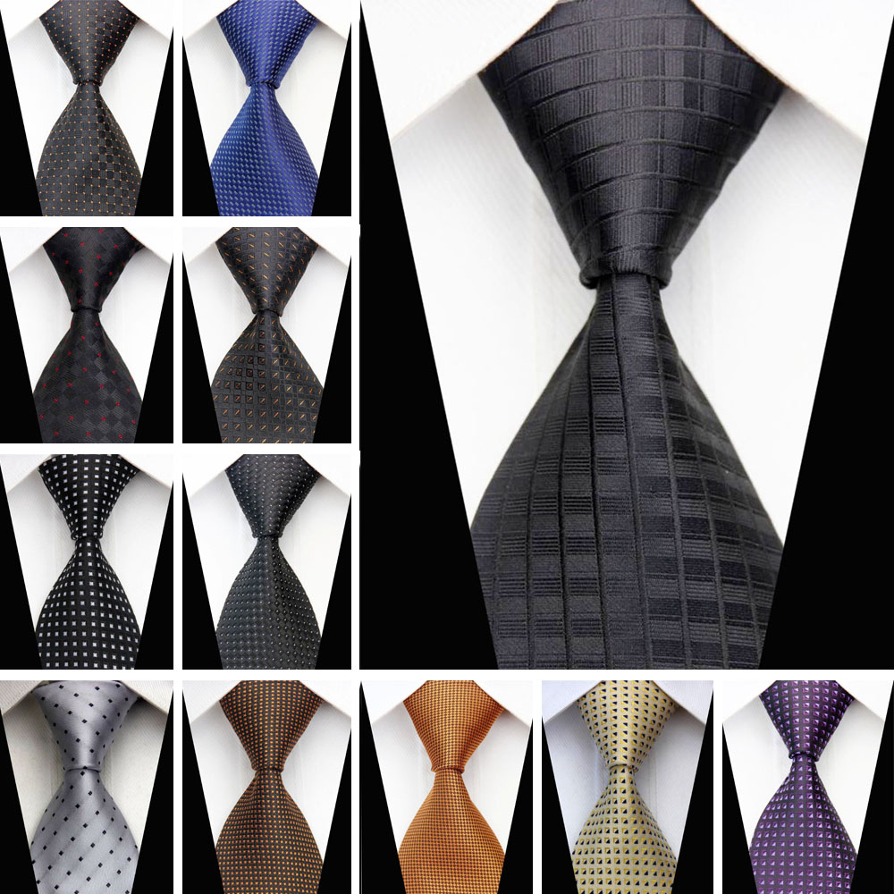 Man Formal Business Silk Necktie Jacquard Woven Men Suit Ties Geometric Dots Pattern 3