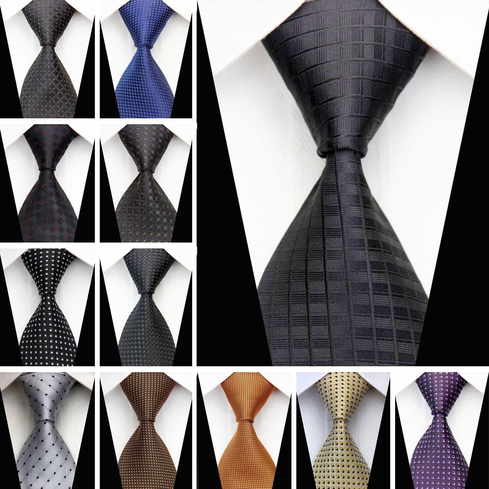 Man Formal Business Silk Necktie Jacquard Woven Men Suit Ties Geometric Dots Pattern 3
