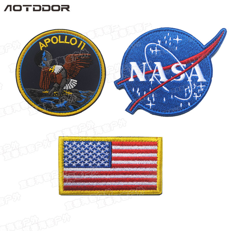 Embroidered Jacket Space Agency 【xiu】 Crafts Zhang NASA Backpack Cloth Sticker Cool Fashion Bag With Supplies