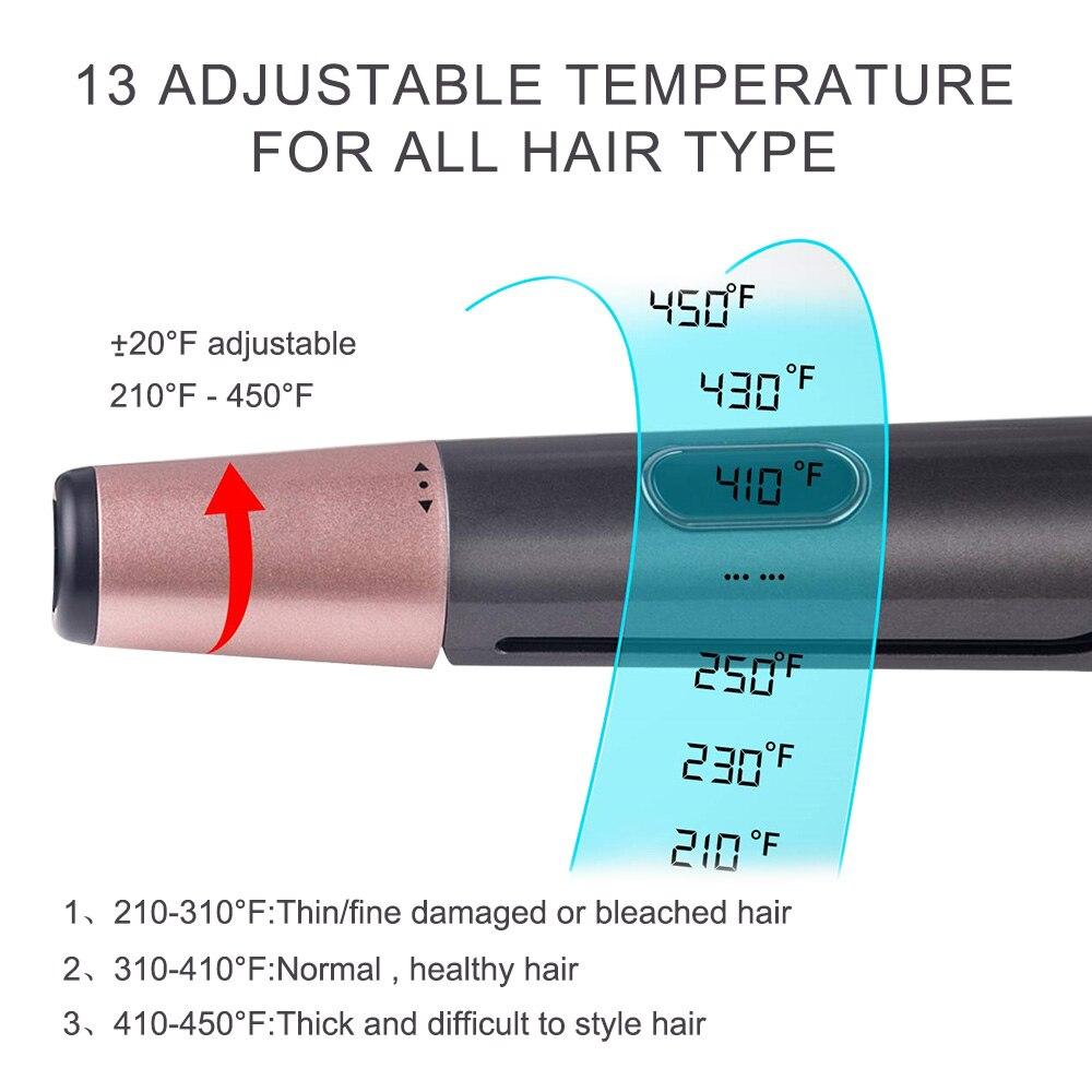 em 1 cerâmica ptc rápido calor curler ferro modelador de cabelo