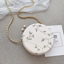 MONNET CAUTHY Autumn New Arrivals Bags Women Sweet Fashion Lace Embroidery Circular Solid Color White Pink Green Crossbody Bag