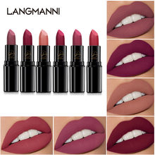 Novo 6 cores portátil matte batom à prova dsweatágua sweatproof labial gloss duradouro mulher batom matiz beleza cosméticos tslm1