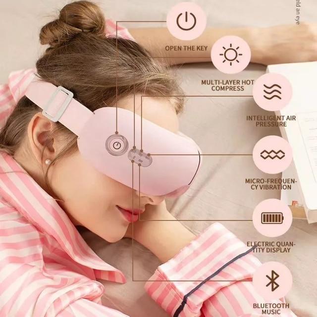 Eye Care Tools Bluetooth Smart Vibration Eye Massager Electric Bluetooth Eye Protector Hot Press Folding Eye