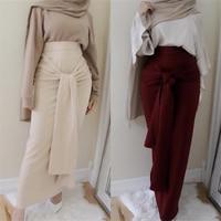 2019 Designer Fashion bandage Womens islamic skirts maxi long bodycon skirt tight high waist muslim ladies bottoms