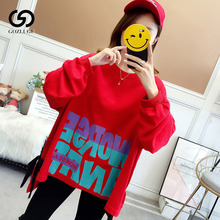 New Women Casual Letter Color Hoodies Ladies Winter Autumn Warm Sweatshirt Long
