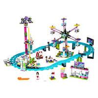 Compatible con Legoinglys Amigos Parque de Atracciones Montaña Rusa amigos bloques modelo Construcción Kits juguetes para niños