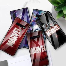 Marvel Comics Logo Glass Case For Samsung