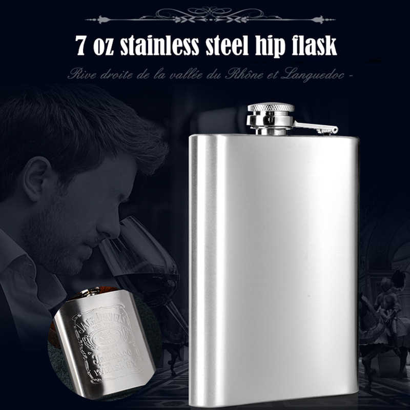 Portable Pocket Hip Flask Wine Liquor Whiskey Vodka Beverage Bottle Travel ZX