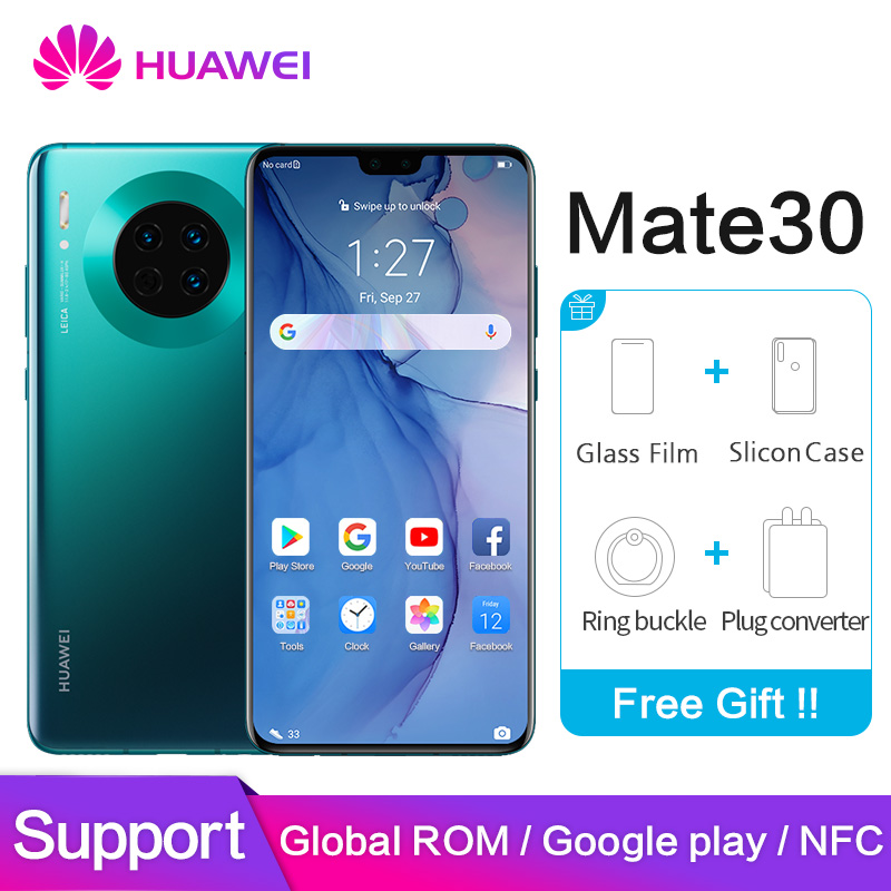 Huawei Mate 30 Global ROM NFC Google Play 8GB 128GB 40MP Mobile Phone Kirin 990 6.62