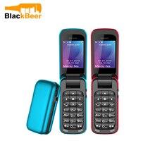 Uniwa 8 Ster BM60 Mini Flip Muziek Telefoon Bluetooth Dial Mobiele Telefoon Fm Radio Magic Voice Changer 3.5 Oortelefoon Jack mp3 Speler