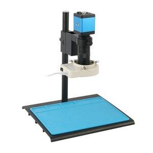 14MP 1080P HDMI VGA промышленный видео микроскоп камера 100X C крепление объектива 56 светодиодный кольцевой светильник для подключения монитора для р...