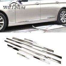 Car chrome decor strip sticker for BMW F10 F11 silver auto styling trim door interior exterior decoration moulding