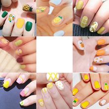 1 Pcs 3D Summer Nails new Designs Nail Water Sticker Set Fruit Lemon Slider Nail Art Transfer Decal Colorful Charm Decor DIY