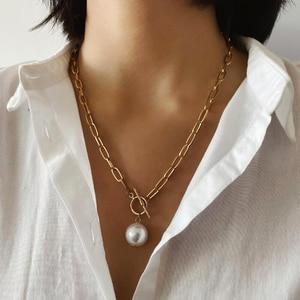 Gothic Baroque Pearl Pendant C