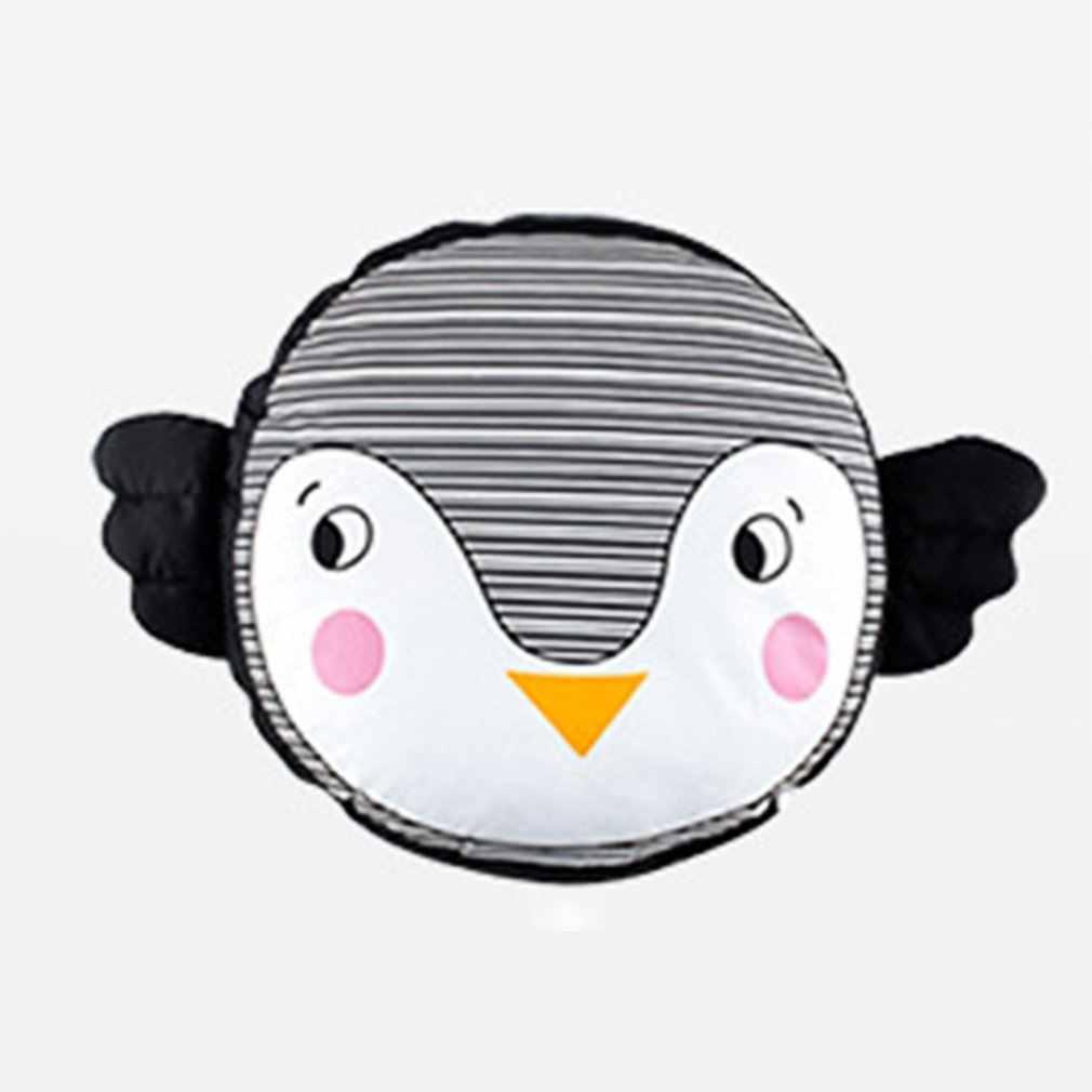 Eco-vriendelijke Katoen Baby Pinguïn Leeuw Kussen Kindje Versterken Cartoon Patroon Taille Kussen Kids Slaap Baby Kamer Decoratie Gift
