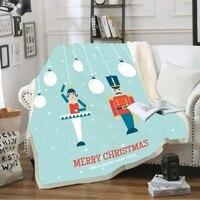 Merry Christmas Winter Soft Sherpa Coral Plush Blanket Joyous Time ThrowBlanket Knee Blanket Cozy Travel Blanket for Children