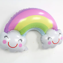 Nube Arcobaleno Smiley Palloncino Arcobaleno Tema Palloncino Palloncino Decorative(China)