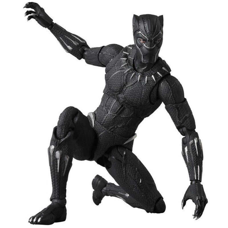 Mafex 091 Marvel Avengers Black Panther Articulated PVC Collectible Joints Moveable Action Figure Toy