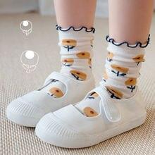 Осенне зимние новые детские носки Мультяшные милые жаккардовые