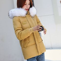 Winter Women Warm Jacket 2019 New Style Fashion Hooded Thickening Cotton Coat Casual Loose Large size Female Parkas NZYD259A 3