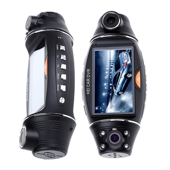 R310 HD 2.7 Dual Lens Cars DVR Camera Dash Cam AVI Video Recorder Night Vision