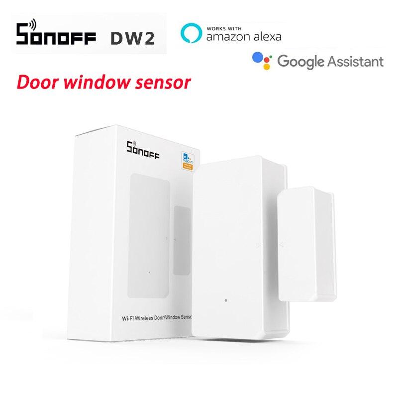 Интеллектуальный выключатель света SONOFF DW2 Wi-Fi Беспроводной двери окна Сенсор умный дом безопасности замок детектор приложение EWelink голос Уп...