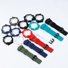 الاكسسوارات ووتش دبوس مشبك مناسبة ل كاسيو الراتنج حزام حالة ساعة رجالي مع AQ S810W AQS810WC الرياضية للماء حزام (استيك) ساعة
