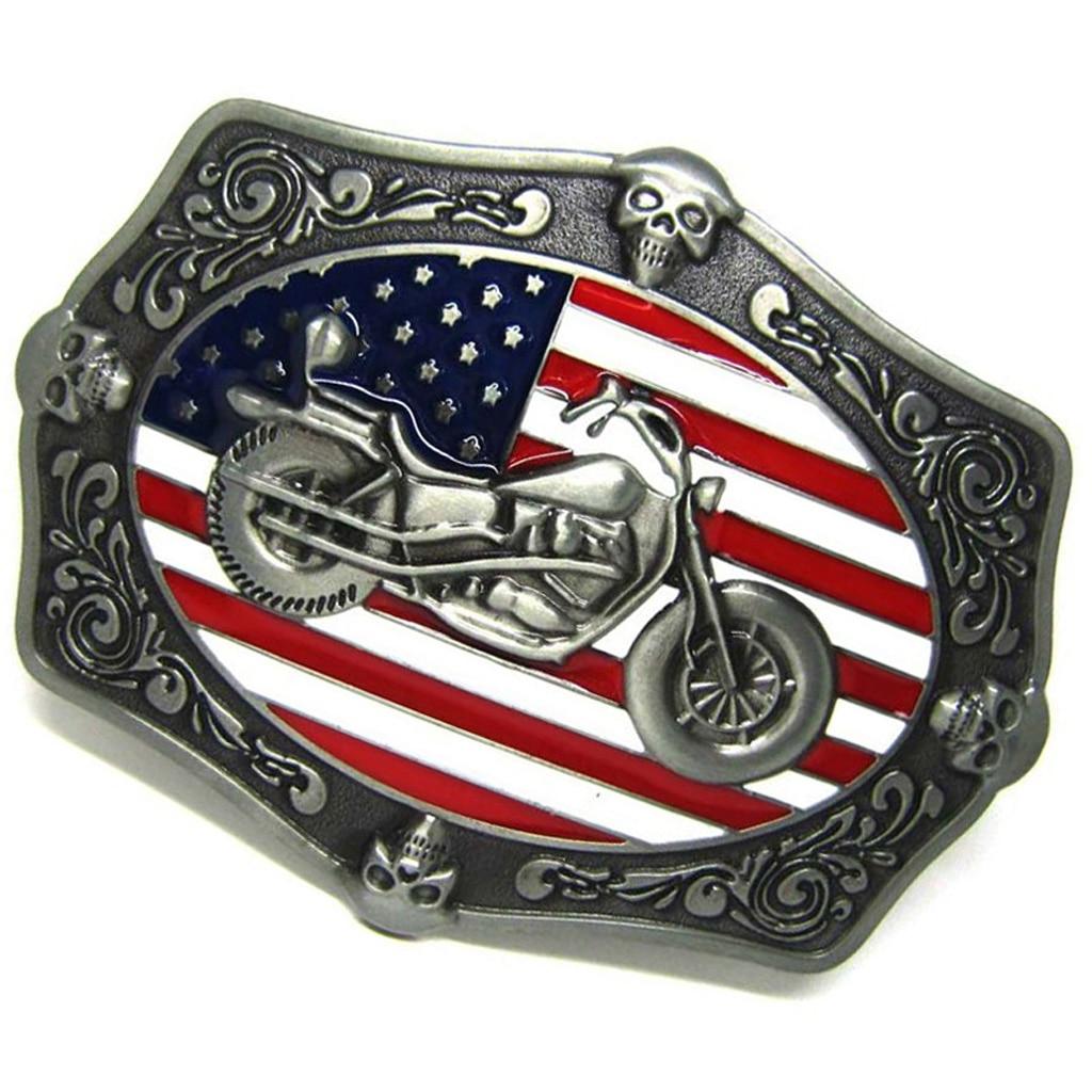 Vintage American Flag Heavy Metal Motorcycle Biker Rider Belt Buckle For Men Cool UK Flag Belt Buckle Accesory For Jeans