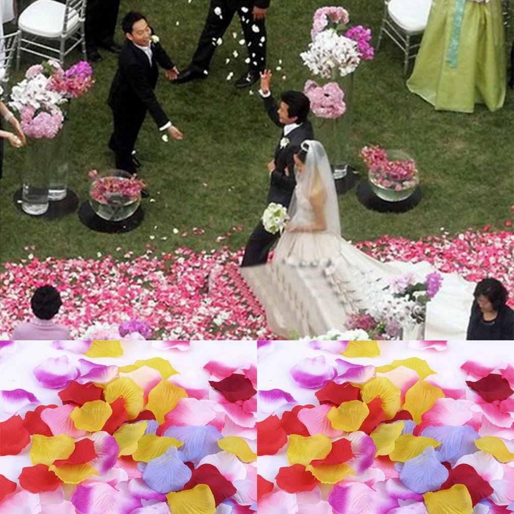 جديد 100 قطعة بوكيه ورد صناعي زهرة بتلات لحفلات الزفاف زينة الطاولة مصممة بشكل رائع رائع رائع