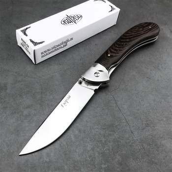Russia 440C Blade Stainless Steel Tactical Folding Knife Chicken Wing Wooden Handle Camping Self-defense High Hardness Edc Knife