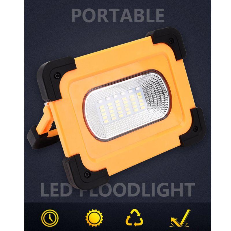 emergencia lampada inundacao usb recarregavel lanterna solar cob led luz trabalho 05
