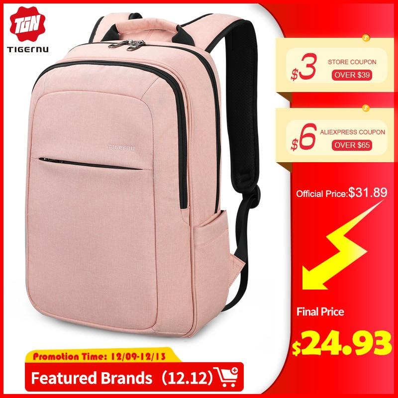 Tigernu Anti Theft Laptop Backpack Waterproof Bagpack Anti Fouling Men Backpack Schoolbag For Women
