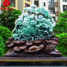 Hezhou jewelry!Myanmar natural jade!Lucky boy hand carving decoration!Living room desk accessories!5.19jins(China)