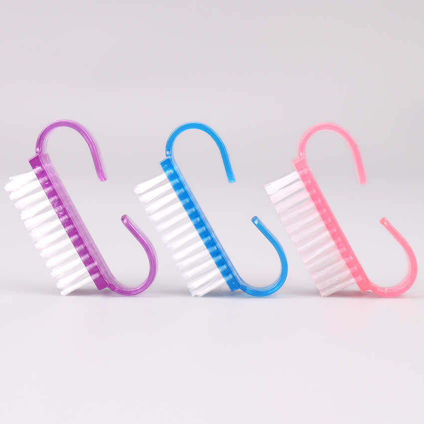 Nail Cleaning Clean Brush Tool File Manicure Pedicure Soft Remove Dust Small Angle Clear Tools for Nail Care 1PC