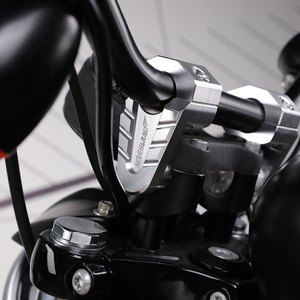 Image 3 - 7/8 22mm 28mm gümüş CNC alüminyum gidon yükselticiler Rise dağı kelepçe Universals motosiklet ATV yükseltici D35