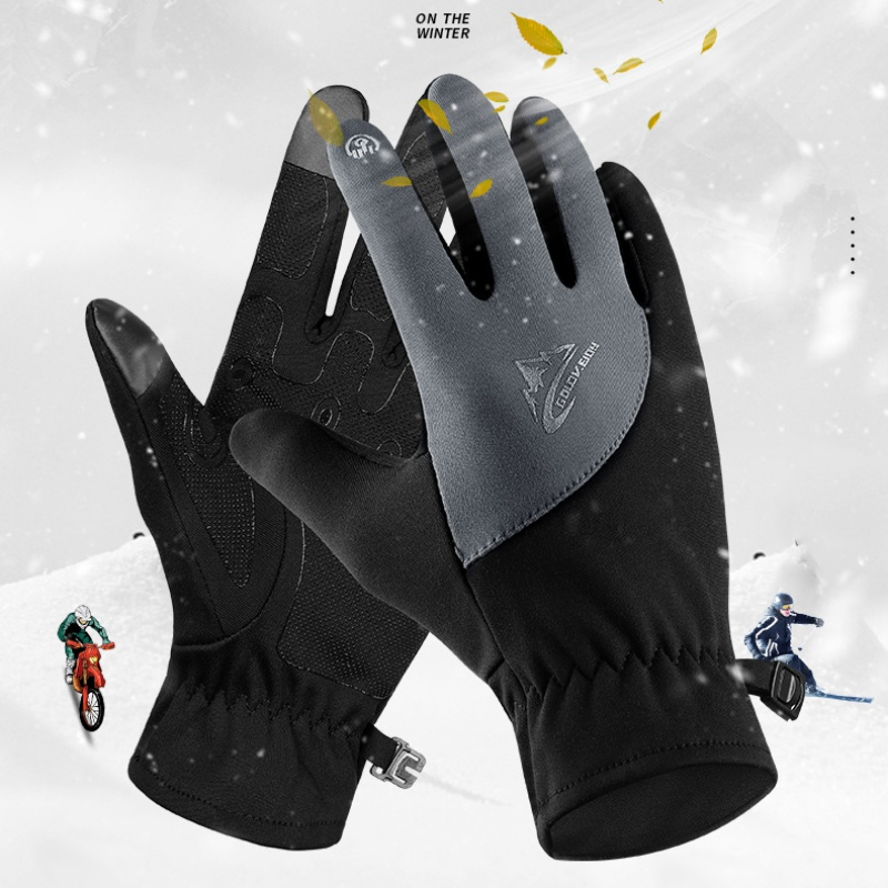 Waterproof Winter Warm Gloves Men Ski Gloves Snowboard Gloves Motorcycle Riding Winter Touch Screen Snow Windstopper Glove
